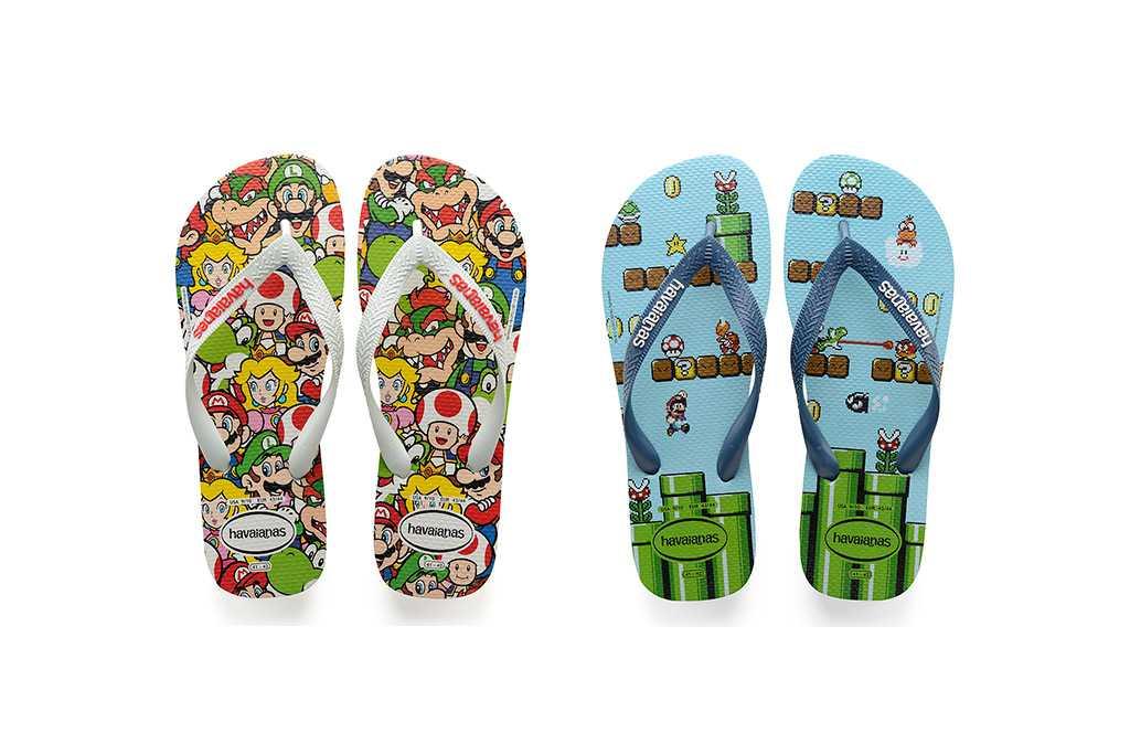 Havaianas lança sandália com estampa do Mario